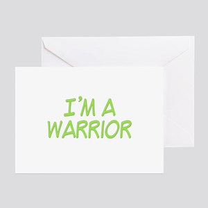 I'm A Warrior [Grn] Greeting Cards (Pk of 10)